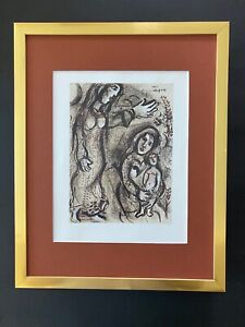 MARC CHAGALL CIRCA 1963 BEAUTIFUL SIGNED PRINT MATTED 11 X 14+ BUY IT NOW