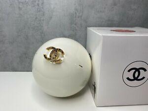 Chanel Limited  Ed Dubai 2016 White Pearl Ball Evening Bag Clutch