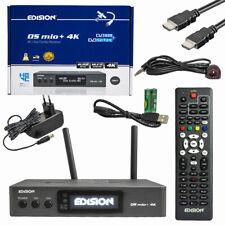 Edision OS Mio+ 4K Grau DVB-S2X + S2/T2/C Triple Receiver 2x SAT 1x T2 / Kabel