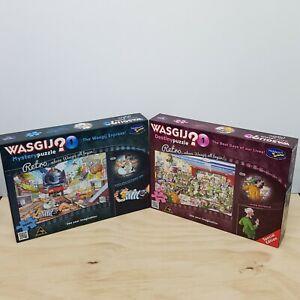 2 x WASGIJ  500 Piece XL Puzzles #1 Destiny  + #1 Mystery Bundle