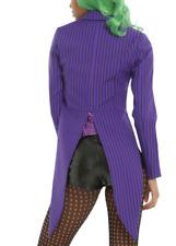 DC Comics Joker Purple Black Pinstriped Tuxedo Jacket JRS LARGE  and Extra Large