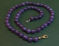 Schöne alte AMETHYST-KUGELKETTE violett • 49 cm geknotet Amethystkette