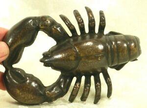 SPI Home DoorKnocker Lobster Solid Cast Brass Bronze Crustacean Ocean Great Gift