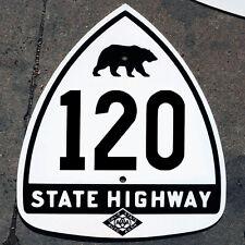 California CSAA bear route 120 highway road sign auto club AAA Yosemite