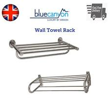 Blue Canyon Chrome Bathroom Towel Rail Rack Shelf Wall Mounted Storage Holder