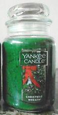 Yankee Candle   Christmas Wreath  22 oz New  1 Single   Free Shipping.