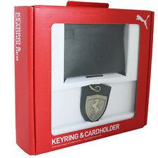 Puma Ferrari SF Keyring & Bifold Cardholder Mens Gift Set 07139501 R6H