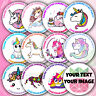 48 UNICORN Personalised Birthday Sticker Labels Thank You For Coming To My Party