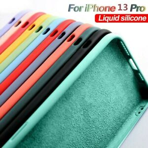For iPhone 13 12 11 Pro Max XR X 8 7 Liquid Silicone Shockproof Phone Case Cover