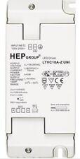LED DRIVER POWER SUPPLY TRANSFORMER 240 VAC 30-54 VDC 10- 18W HEP LTVC18A-Z UNI