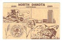 North Dakota Centennial Vintage Postcard AN55
