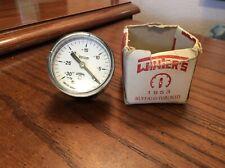 2 Winters 1953 Vacuum Pressure Gauge Range 30 To 0 New Old Stock Box