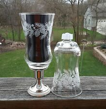 2 Homco Pinecones Etched/Embossed Iced Peg Cup Votive Candle Holders W/Grommets