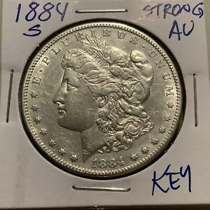 1884 S Morgan Silver Dollar.