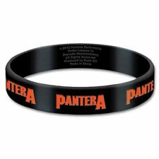 Pantera Black Wristband Gummy Rubber Bracelet Band Logo Name Gift 100% Official