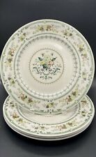"4 ~ Royal Doulton Provencal Dinner Plates 10 3/4"" Euc Trendy Green!"