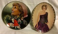 "Franklin Mint Princess Diana Plate ""England's Rose� & Bradford Exc ""Radiant Prin"