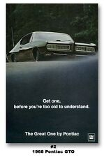 24x36 1968 Pontiac GTO The Great One Poster Ad Art Print Ram Air Judge Muscle