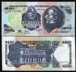 URUGUAY 50 PESOS P-61 A 1989 x 100 Pcs Lot HORSE COW PALACE UNC BUNDLE DEAL NOTE