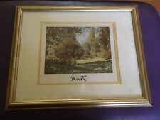 French Art Claude Monet The Parc Monceau Framed Matted Litho Print Impressionism