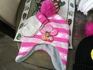 Nickelodeon Paw Patrol Hat Beanie and Gloves Set Kids | Pink | Beanie Mittens