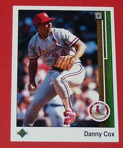 DANNY COX ST LOUIS CARDINALS BASEBALL CARD UPPER DECK USA 1989