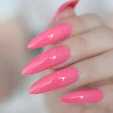 Neon Fake Nails Extremely Long Press On Nails Shiny Manicure Tips For Women New