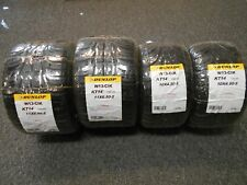 GO-KART TIRES BAR STOOL TIRES WAGON  DUNLOP RAIN TIRES SET OF 4 NEW