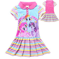 Girl Dress My Little Pony Short Sleeves Cotton Party Birthday Dress Size 1-7 Yrs
