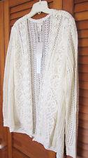 NWT NEW Chico's Ramona Lace Cardigan Sweater Ecru Size 2 (12 14)