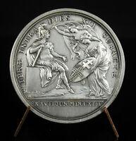 Test Medal Silver Louis XV the Taken D' Ypres Belgium War Austria 1744