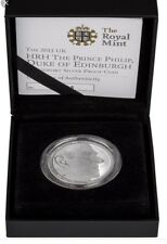2011 UK Coin £5 / Crown Silver Proof Piedfort Prince Philip 90th Birthday