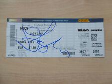 Lady Gaga Autogramm signed Ticket Hamburg 26.7.2009