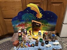 PLAYMOBIL Nativity 3996 and 3 Wise Men 3997 Retired 1999 Near Complete