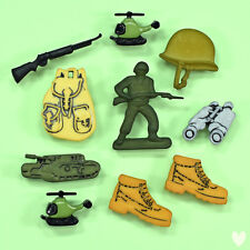 Buttons Galore Military 4050 - Army Soldier Helicopter Tank Helmet Dress it Up