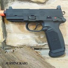 Licensed FN Herstal FNX-45 Tactical Airsoft Gas Blowback Pistol Gun - Black