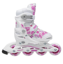Roces Compy 8.0 Junior Adjustable Inline Skates Uk 1.5-3.5 Eu 34-37 New Other