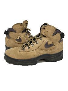 Vintage 1998 Nike Air Caldera ACG Hiking Boots 90s Brown Purple Size 8.5