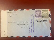 Barbados REGISTERED COVER to USA in 1938