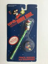 Super Mario Bros. Hugger and Sharpener 1989 Sealed on Card Rare Collectible