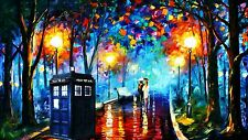 DR WHO SPOOF  TRAVEL SPACE OIL ICON TARDIS FINE ART CANVAS A1 ICONIC RETRO 20X3