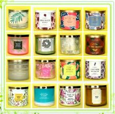 BATH & BODY WORKS White Barn 3-WICK CANDLE 14.5 OZ with LID u pick scent NEW