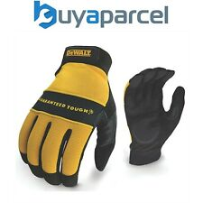 DeWalt Work Gloves Synthetic Padded Leather Palm and Brow Wipe DEWPERFORM2