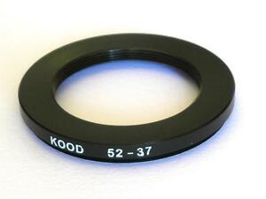 STEP DOWN ADAPTER 52MM-37MM STEPPING RING 52 TO 37MM 52-37 STEP DOWN RING
