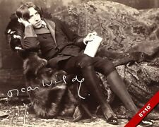 OSCAR WILDE PERFECT HUSBAND AUTHOR SIGNATURE PORTRAIT PHOTO CANVAS 8X10 PRINT