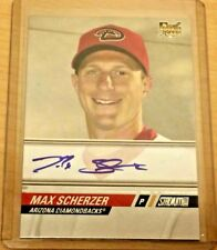MAX SCHERZER 2008 Topps Stadium Club rookie auto autograph (3) Cy Youngs HOF??