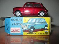 Corgi toys Morris Mini Minor Ref 226 avec Boite d' origine Mint