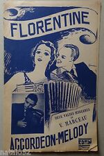 partition FLORENTINE - ACCORDEON MELODY - orchestre - EDEN