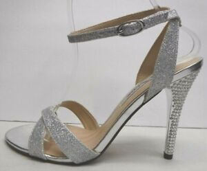 Nina Size 8.5 Silver Glitter And Stone Heels New Womens Shoes