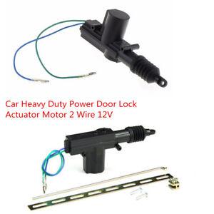 Black DC12V Car Heavy Duty Power Door Lock Actuator Motor 2 Wire Alarms Security